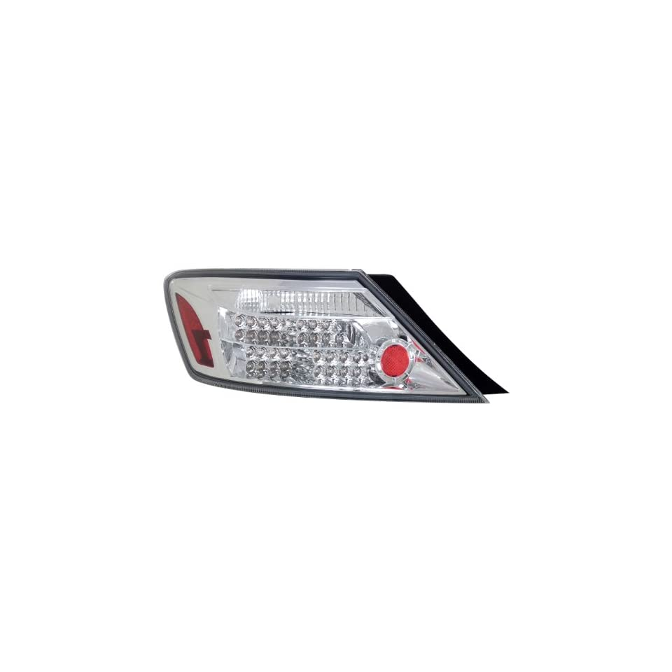 Anzo USA 321108 Honda Civic Chrome LED Tail Light Assembly   (Sold in Pairs)