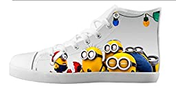 Renben Kids Girl\'s Despicable Me 2 Minion Canvas Shoes Lace-up High-top Sneakers Fashion Running Shoes
