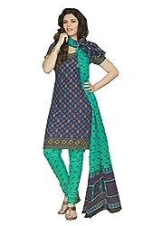 Araham Purple color Printed 100% Cotton Unstitched Salwar Suit Dress Material