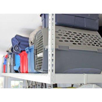 "SafeRacks - 4x8 Overhead Garage Storage Rack Heavy Duty (18""-33"" Ceiling Drop)"