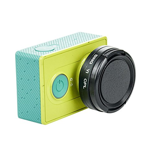 37mm filtre CPL polarisant circulaire filtre + Bouchon d'objectif pour appareil photo Xiaomi xiaoyi Yi Action de protection en plastique