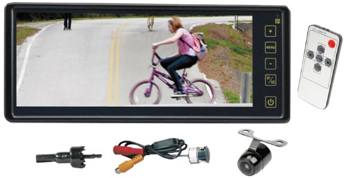 Pyle Plcm8200 8.1-Inch Rear View Backup Camera With Universal Mount Parking Assist System