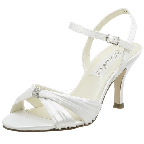 Coloriffics Women's Tori Sandal,White,7 M