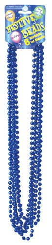 Festive Metallic Royal Blue Beads - 1