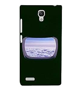 PrintVisa Window Plane Clouds Design 3D Hard Polycarbonate Designer Back Case Cover for Xiaomi Redmi Note