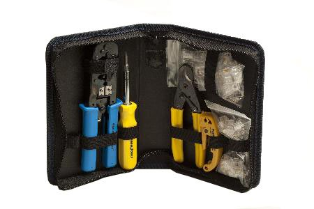 Platinum All-In-One Modular Plug Kit Basic Twisted Pair Tools For Data Communications