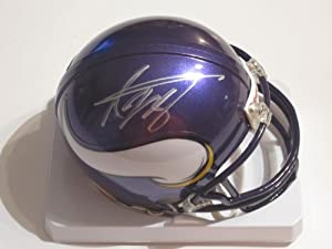 Adrian Peterson Minnesota Vikings Signed Autographed Mini Helmet Authentic Certified...
