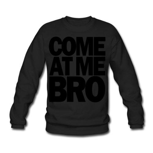 Spreadshirt, come_at_me_bro, Men's Sweatshirt, black, XXL