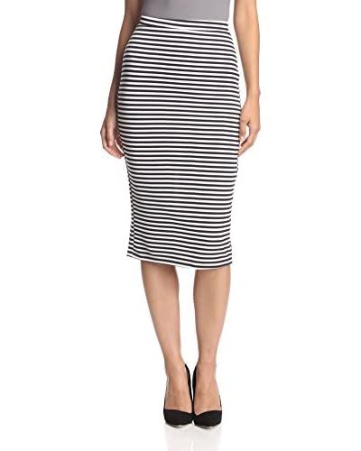 d.Ra Women's Mississippi Striped Midi Skirt