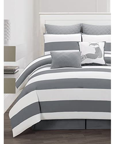 Duck River Textiles Delia Stripe 8-Piece Comforter Set