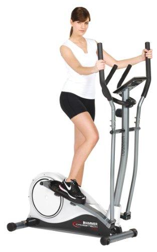Hammer v lo elliptique blanc anthracite 113 x 64 x 166 cm cardio training - Velo elliptique cardio training ...