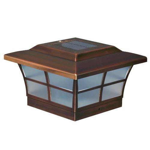 Classy Caps SL086 6x6 Prestige Solar Post Cap - 2 Pack/Copper