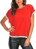 La belle parisienne Camiseta Manga Corta Lauren (Rojo)