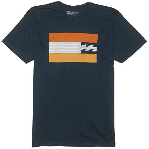 Billabong Little Boys' Kids Level Short Sleeve T-Shirt, Navy, 5 front-951727