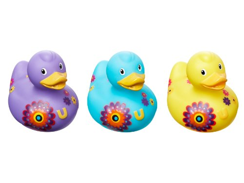 Tinas De Baño Decoradas:Bud Juego de 3 mini juguete de goma del pato tina de baño, Bloom