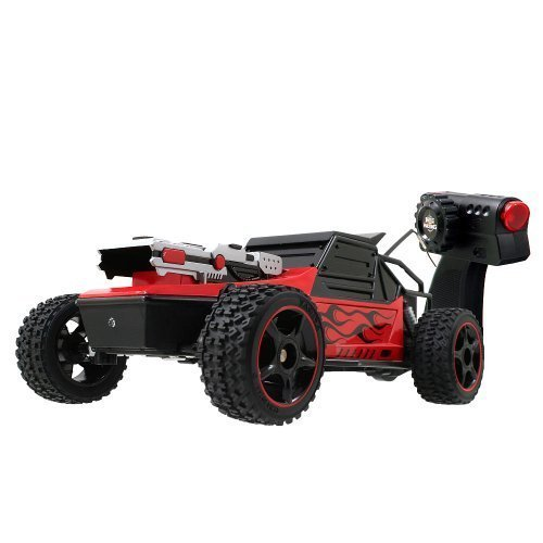 Battle Machines Rapid Fire Battle Buggy - Red 27MHz by Jada (Battle Machines compare prices)