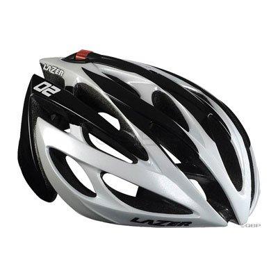 Lazer O2 Helmet: White/Black; XL/2XL (61-65cm)