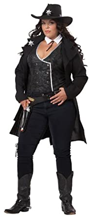 California Costumes Plus-Size Round Em Up, Black, X-Large Costume