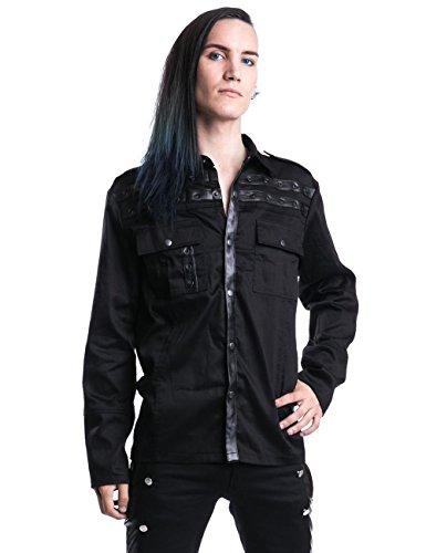 Vixxsin Draw Camicia nero S