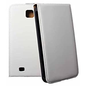 Rocina premium leather optics flip case white for Samsung N7000 Galaxy Note