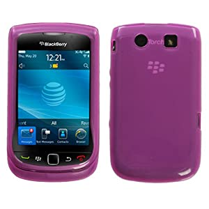 Hot Pink Tinted Flexi Gel Skin Case for BlackBerry Torch 9800