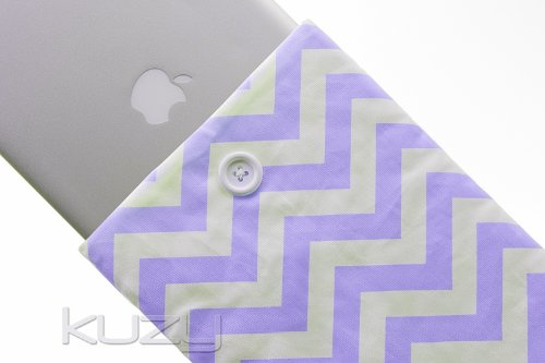 #>>  Kuzy - 13-inch PURPLE Chevron Cotton Sleeve Handmade Cover for MacBook Pro 13-Inch (with or w/out Retina Display) and MacBook Air 13-Inch - Purple 13.3-inch