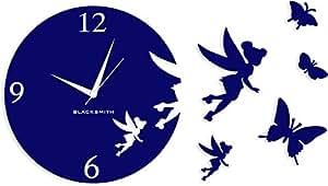Blacksmith Aluminium Angel Butterfly Wall Clock