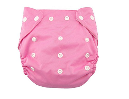 Baby Thin Ventilate Reusable Adjustable Baby Soft Cloth Diaper Pink Linter Inner