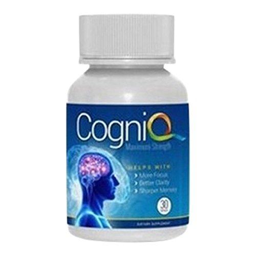 CogniQ Natural Smart Pill Enhancement - Nootropic Focus Cerebral Enhancer Memory Recall Brain Boost 30 Caps