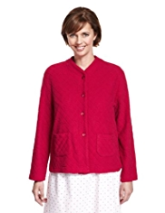 Jacquard Rose & Quilted Bed Jacket
