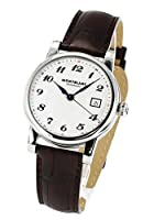 Montblanc 107315 Star White Dial Brown Strap Men's Watch by Montblanc