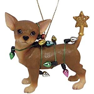 Aye Chihuahua Christmas Lights Ornament