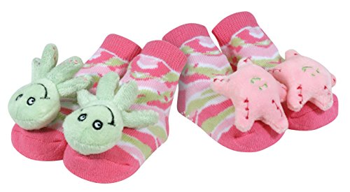 Stephan Baby Go Fish Rattle Socks, Octopus and Pink Starfish - 1