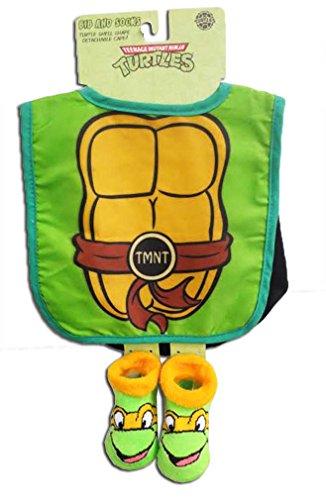 Teenage Mutant Ninja TMNT Turtles Infant Green Bib and Socks [5011]