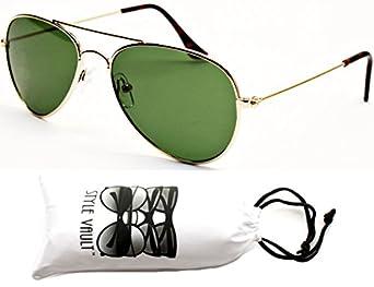 Kd202-vp Style Vault(TM) Kids Child(2~9yr Old) Aviator Sunglasses (GL Gold-Green Lens)