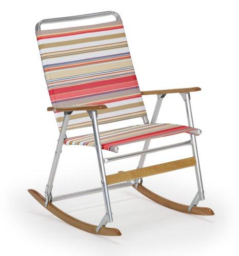 Telescope Casual High Back Folding Rocking Arm Beach Chair, Fiesta