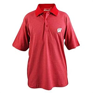 Wisconsin Badgers Cutter and Buck Drytec Resolute Polo by Cutter & Buck