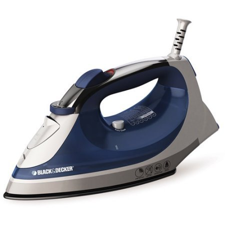 Black & Decker Corded Xpress Steam Iron, Blue, Stainless steel soleplate (Steam Tobi compare prices)