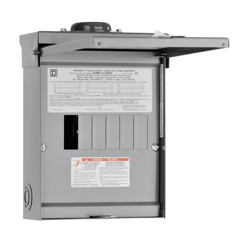 Square D By Schneider Electric Hom612L100Rbcp Homeline 100 Amp 6-Space 12-Circuit Outdoor Main Lugs Load Center