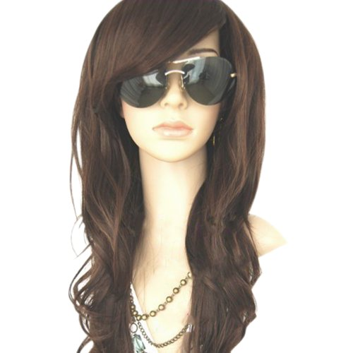 MelodySusie New Women's Long Full Curly/Wavy Glamour Hair Wig Fashion