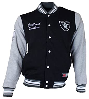 Majestic Burnside Fleece Letterman Oakland Raiders College Jacke Jacket by Majestic