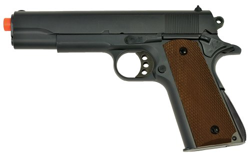 UTG Sport Airsoft 1911 Full Metal Spring Pistol with 2 Mags (Black, Small)