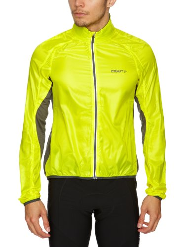 Craft Performance Bike da uomo giacca leggera, Uomo, Yellow / Iron, L