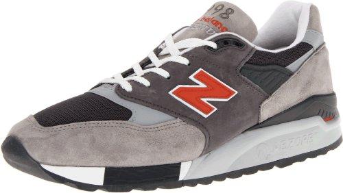 New Balance Men'S M998 Classic Running Running Shoe,Grey/Red,12 D Us