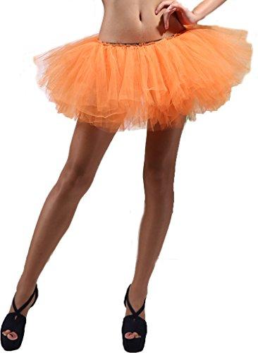 5 Layers Womens Ballet Tutu Skirt Petticoat Dance Rave Neon Party Halloween Skirts