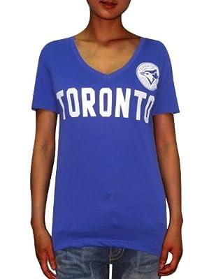 PINK VICTORIA'S SECRET WOMENS Toronto Blue Jays V-Neck T Shirt / Tee