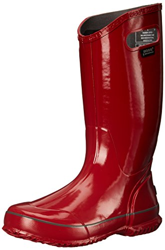 Bogs Women's Solid Rain Boot, Red, 7 M US (Bogs Rain Boots Women compare prices)