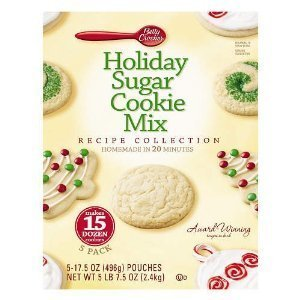 ... Holiday Sugar Cookies Mix Kit Recipe Collection Makes 15 Dozen Cookies