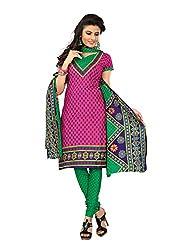 Khushbu Textile Women's Cotton Unstitched Salwar Suit (9020_Multicolor_Free Size)