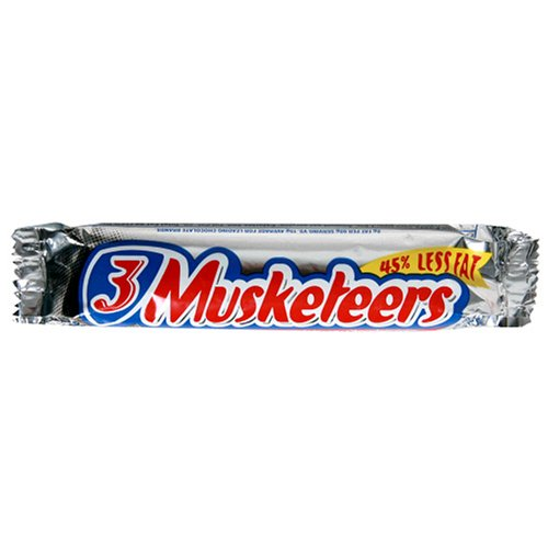 Buy 3 Musketeers Candy Bars, 2.13-Ounce Bars (Pack of 36) (3 Musketeers, Health & Personal Care, Products, Food & Snacks, Snacks Cookies & Candy, Candy)